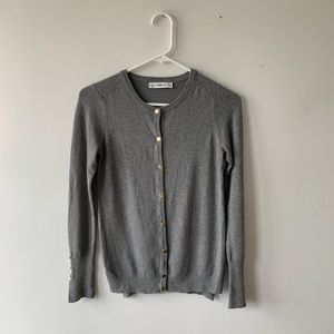 Zara Button Up Fitted Cardigan Sweater Crewneck